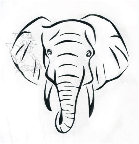 simple elephant tattoo designs design elephant drawing ink easy litle pups