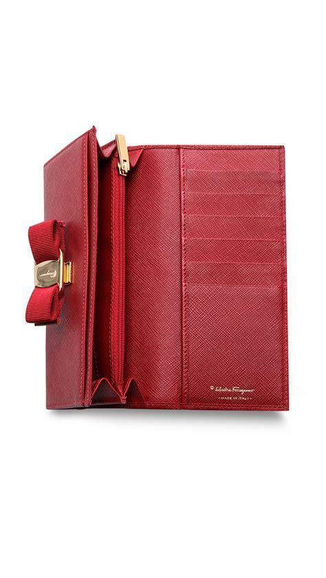 Salvatore Ferragamo Miss Vara Rosso ferragamo miss vara bow wallet in rosso lyst