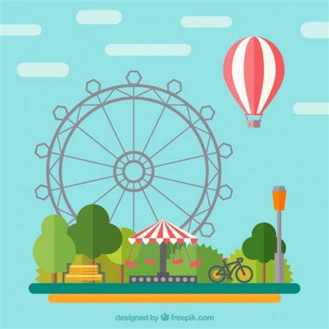 Theme Park Vector | amusement park vectors photos and psd files free download