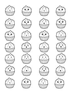 Cupcakes Et G 226 Teaux Coloriages Difficiles Pour Adultes