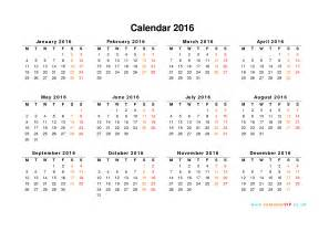 Calendar 2016 uk free yearly calendar templates