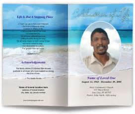 Memorial Service Program Templates by Carribean Funeral Program Template Memorial