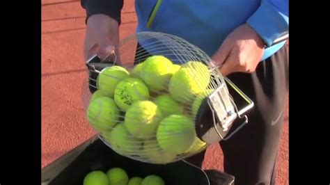 tennis ball collector the quickest tennis ball collector you find youtube