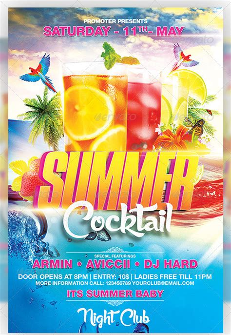 summer party flyers 38 free psd ai vector eps format