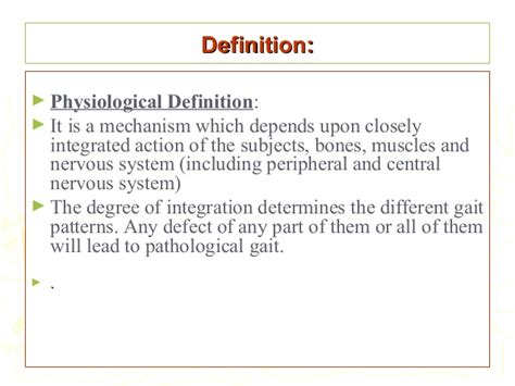 pattern of three definition normal and pathological gait