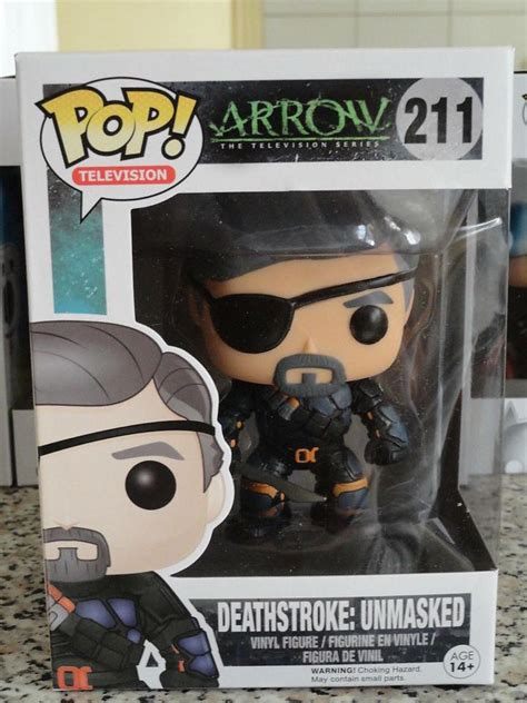 Funko Pop Arrow Deathstroke Unmasked look at pop arrow unmasked deathstroke