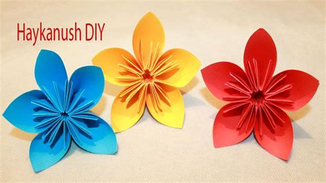 Flores De Origami - como hacer flores de papel origami faciles
