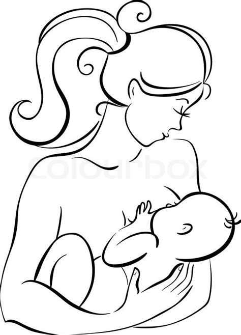mother and baby stock vector