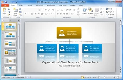 Org Chart Powerpoint Change Layout Of Organization Chart Org Chart In Powerpoint 2010