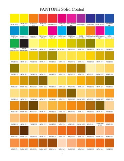 und colors pantone solid coated