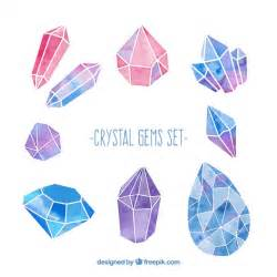 home design free gems watercolor gems set vector free