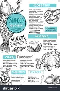 seafood menu templates seafood restaurant brochure menu design vector stock