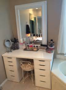 Makeup Vanity Ikea Bedroom Vanity Great Storage Ideas Atzine