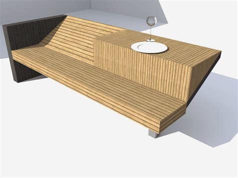 Mobilier Urbain Banc Bois banc mobilier urbain kez architecte maison bois