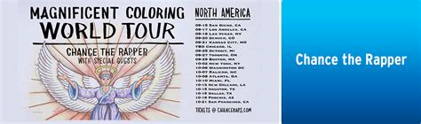 coloring book tour dates chance the rapper coloring book tour tickets