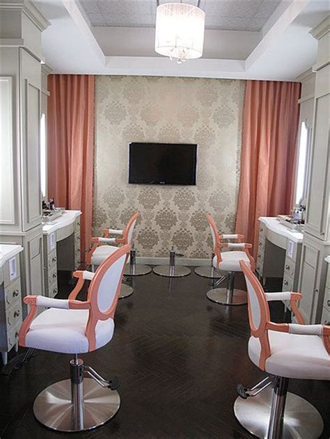 hair salon wall colors could wallpaper behind hair dryers interiors