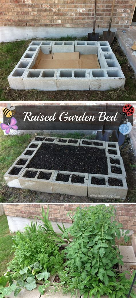 cinder block raised bed 35 creative garden hacks tips that every gardener