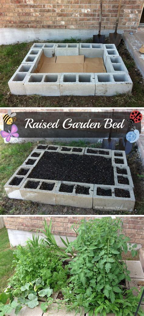 raised garden with cinder blocks 35 creative garden hacks tips that every gardener