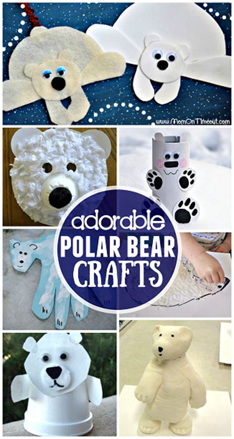 Winter Polar Bear Crafts for Kids to Make - Crafty Morning Empty Toilet Paper Roll Png
