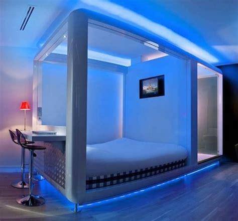 Led Light Ideas Bedroom Decorating Ideas With Led Lighting Futuristic Bedroom