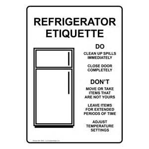 refrigerator etiquette with symbol sign nhe 15950 safe
