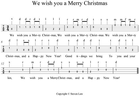 Ukulele lesson 4 we wish you a merry christmas quot steven law