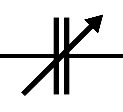 capacitor symbol and function variable capacitor symbol clipart best