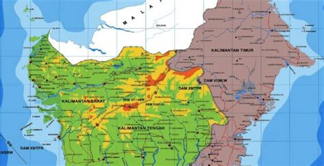 peta kalimantan kekayaan alam kebudayaan demografis