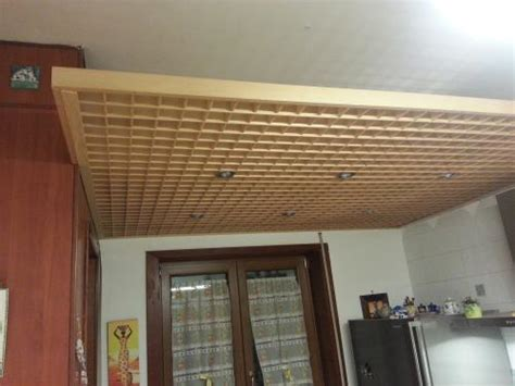 controsoffitto grigliato controsoffittatura con rif 507 grigliato legno bricomm