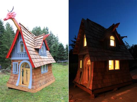 fairy tale inspired wooden outdoor playhouses  chris axling