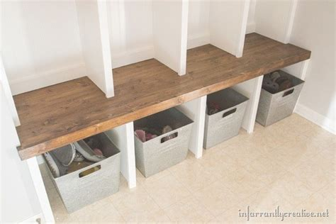 how to make a mudroom bench mudroom lockers part 1 bench infarrantly creative