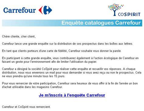 Lettre De Remerciement Geste Commercial Carrefour S Interroge