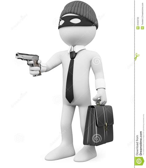 White Criminal Record White Collar Criminal With A Gun Stock Photo Image 23459700