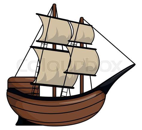 pirate boat clipart pirate ship cartoon illustration stock vector colourbox