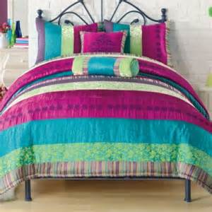buy bright colored comforters from bed bath beyond