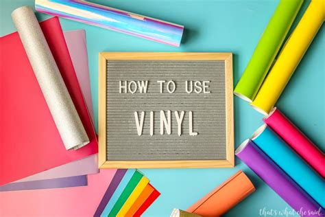 Everything You Need Vinyl - how to apply craft vinyl everything you need to