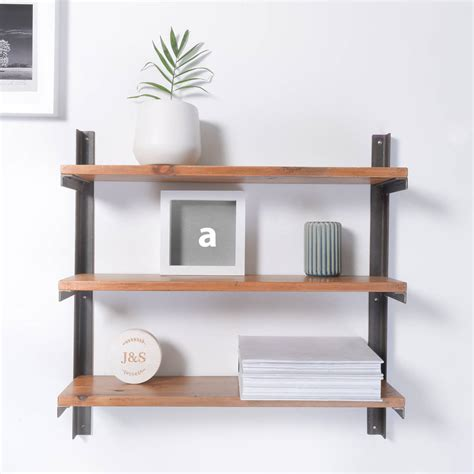 Reclaimed Wood And Steel Industrial Style Shelf Unit By Industrial Wood Shelves