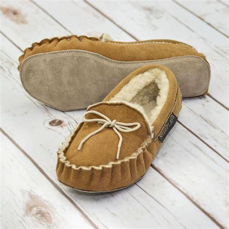Handmade Sheepskin Slippers - sheepskin moccasin slippers