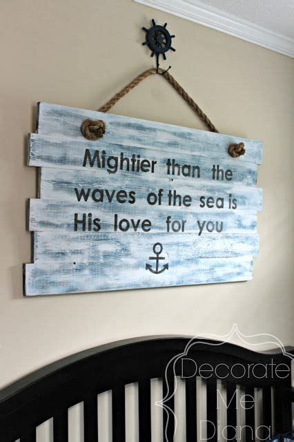 Decorate Me Diana Nautical Sign Diy Via Diana Avery Diy Nautical Nursery Decor