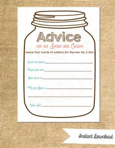 advice for the cards advice cards for the and groom instant jar advice cards customization