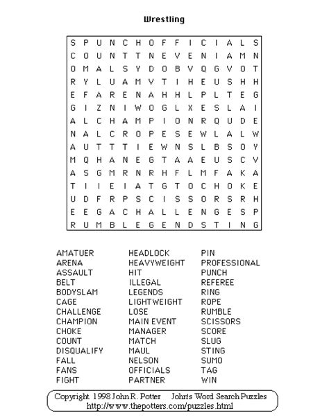 Printable Wrestling Word Search | wwe wordsearch 2014 search results calendar 2015