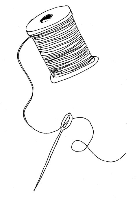 String With Needle And Thread - needle and thread clipart best