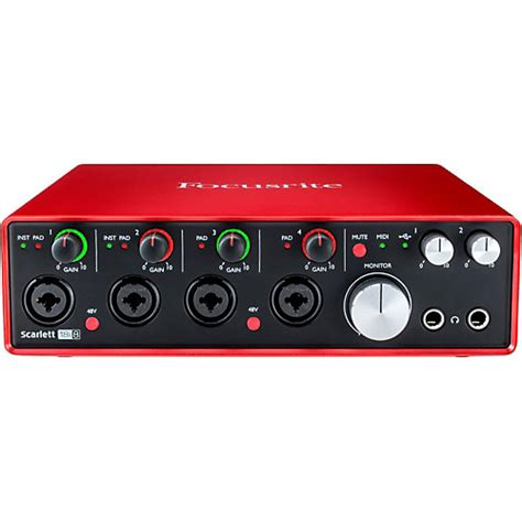 best focusrite audio interface focusrite 18i8 2nd usb audio interface