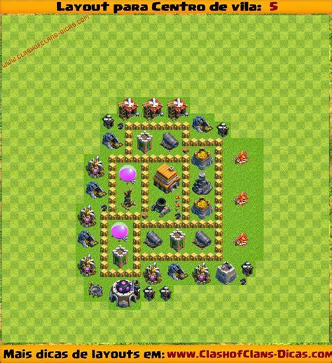 layout design cv 5 layouts para centro de vila 5 para clash of clans clash