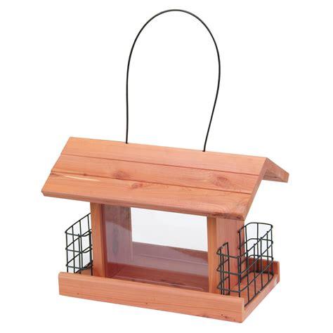 shop garden treasures natural cedar cedar hopper bird