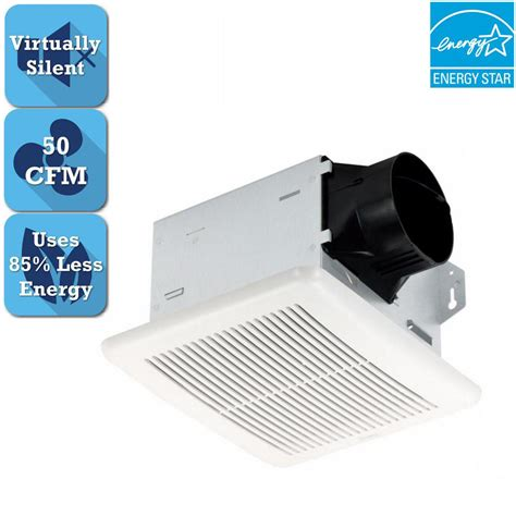 bathroom exhaust fan 50 cfm hton bay 50 cfm ceiling bathroom exhaust fan 7114 01