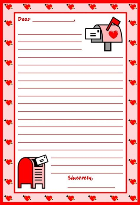 S Day Letter Template by S Day Teaching Resources Lesson Plans For