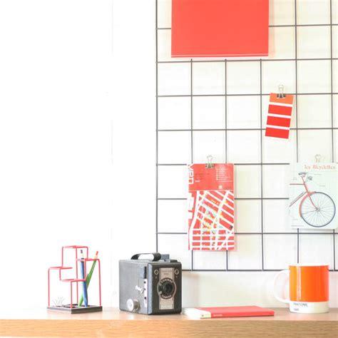 grey wire mesh memo board by block design