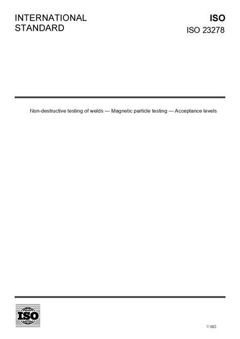ISO 23278 - European Standards