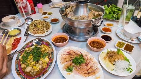 steamboat chinese teochew chinese food in bangkok chinese sashimi and fish